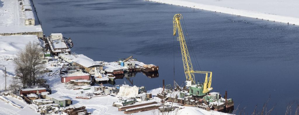 The harbour in Murmansk, Russia's major port on the Barents Sea. Photo: Getty Images