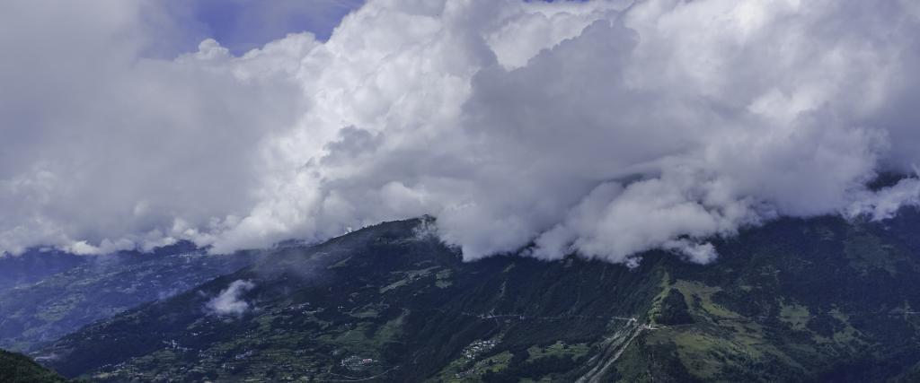 Monsoon clouds engulf the mountains near Tawang, Arunachal Pradesh. Photo: Getty Images