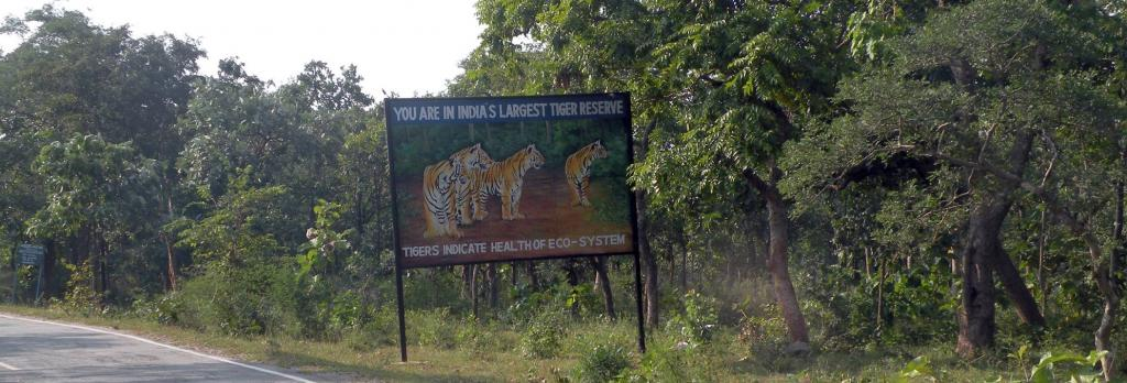 A board inside the Amrabad Tiger Reserve. Photo: Imran Siddiqui
