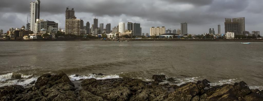 The Mumbai skyline from the famous Haji Ali Dargah. Photo: Getty Images