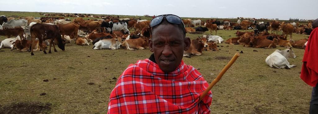 James Vetingio, a pastoralist from the Masai Mara. Photo: Jitendra