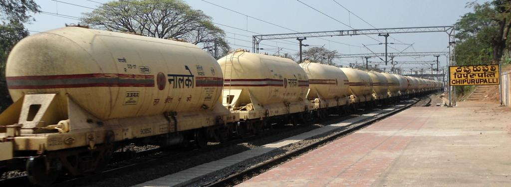 Nalco wagons at Cheepurupalli train station, Andhra Pradesh. Photo: Wikimedia Commons