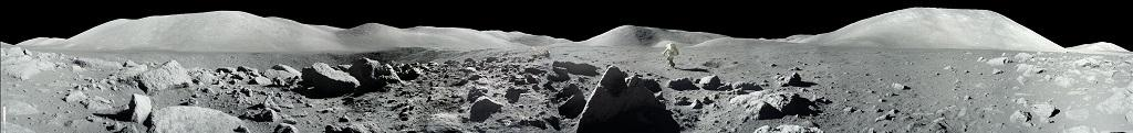 Here's an image of Apollo 17 lunar surface at the Taurus-Littrow landing site taken during the second moonwalk of the mission by Apollo 17 commander Eugene Cernan and lunar module pilot Harrison (Jack) Schmitt. Photo: NASA