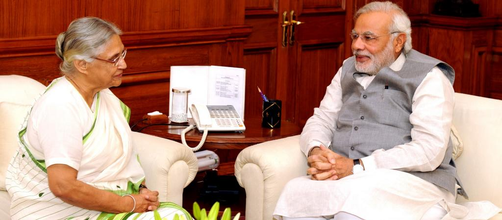 Sheila Dikshit, then Kerala Governor, meeting with Prime Minister Narendra Modi. Photo: Wikimedia Commons