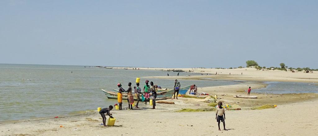 Lake Turkana in Northern Kenya is the world's largest desert lake and has been rapidly shrinking. Photo: Getty Images