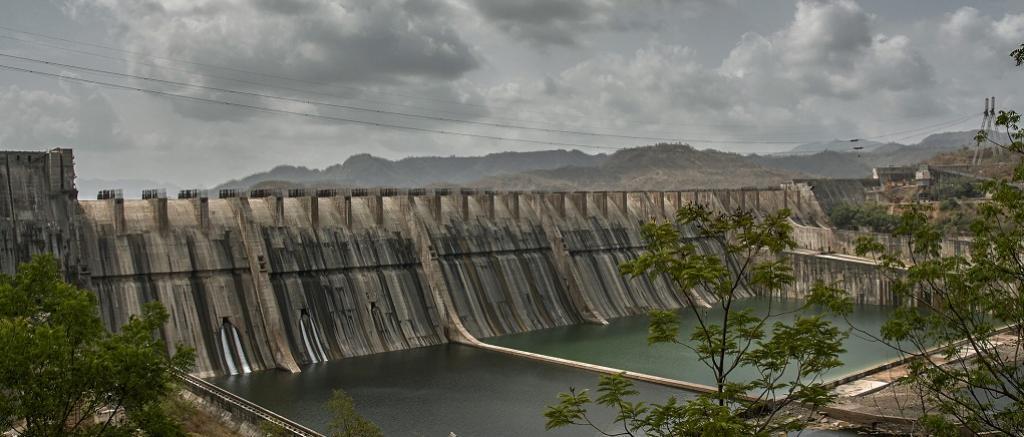 Narmada dam in Gujarat. Photo: Getty Images