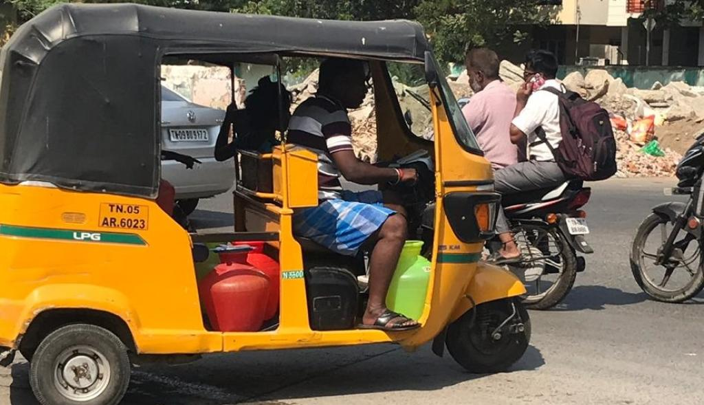Transporting water during the days when Chennai ran out of water. Photo: Shivani Chaturvedi
