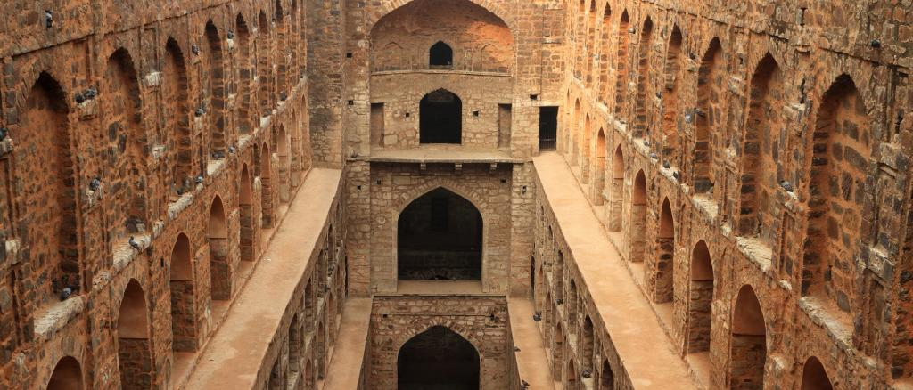 Agrasen Ki Baoli, a traditional water body in Delhi. Most water bodies in Indian cities have been destroyed in the decades since independence. Photo: Getty Images