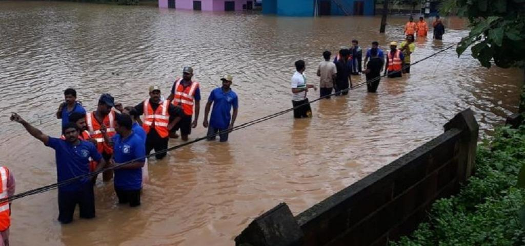 A view of rescue team in Wayanad district, Kerala. Photo: Rejimon K
