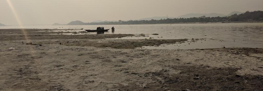 River basin degradation is a socio-economic problem. The challenge lies in finding ways to satisfy our needs without disturbing the ecological balance. Shown here is the bank of the Brahmaputra in Assam. Photo: Getty Images