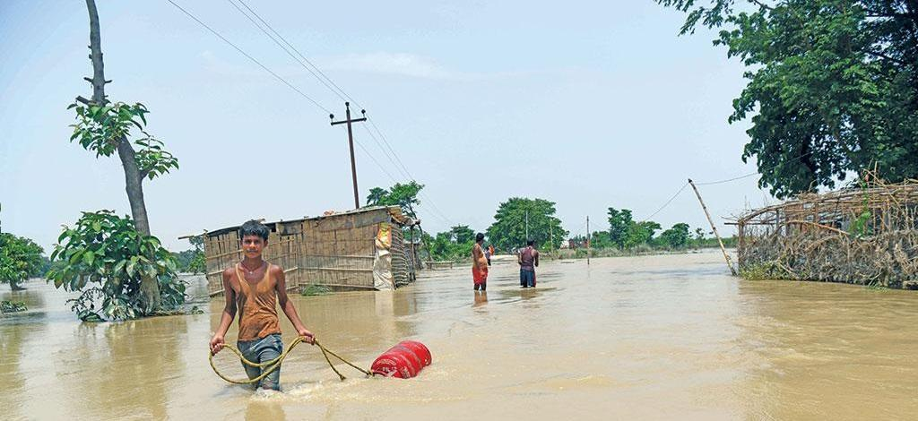 Muzaffapur district is Bihar received 195 per cent surplus rainfall between July 11 and 17 this year (Photograph: Sachin Kumar)
