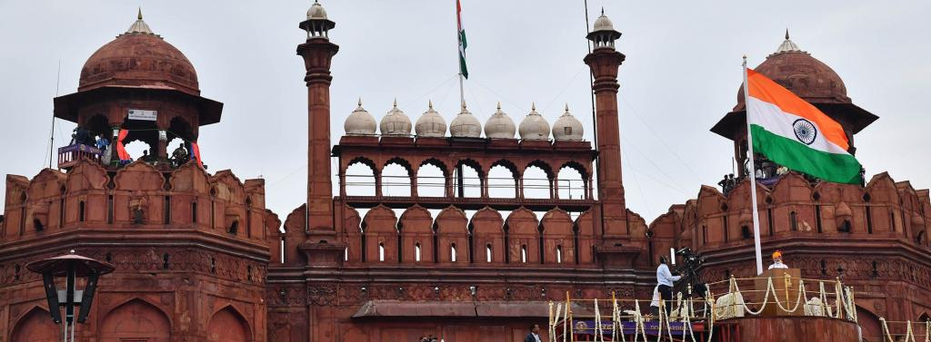 Prime Minister Narendra Modi called for action against single-use plastic at his Independence Day 2019 speech at New Delhi's Red Fort. Photo: PIB