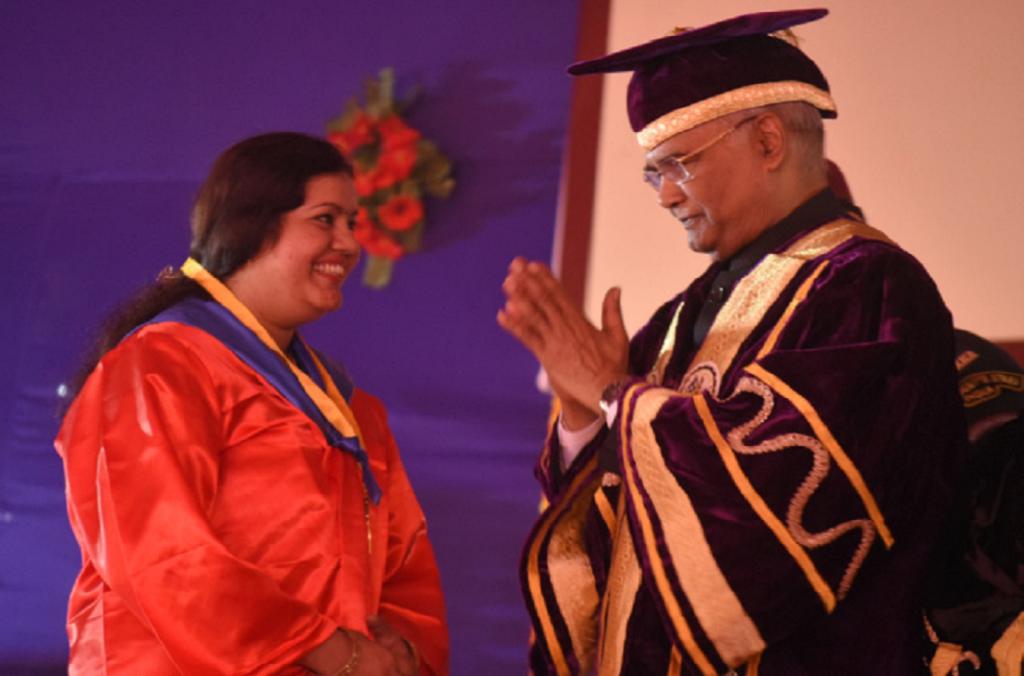 डॉ. राजेंद्र प्रसाद केंद्रीय कृषि विश्वविद्यालय के 2018 के दीक्षांत समारोह का दृश्य। फोटो: यूनिवर्सिटी की वेबसाइट से ली गई है