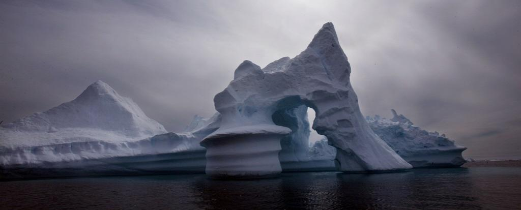 Most of Greenland is covered by Arctic ice. AP Photo/John McConnico