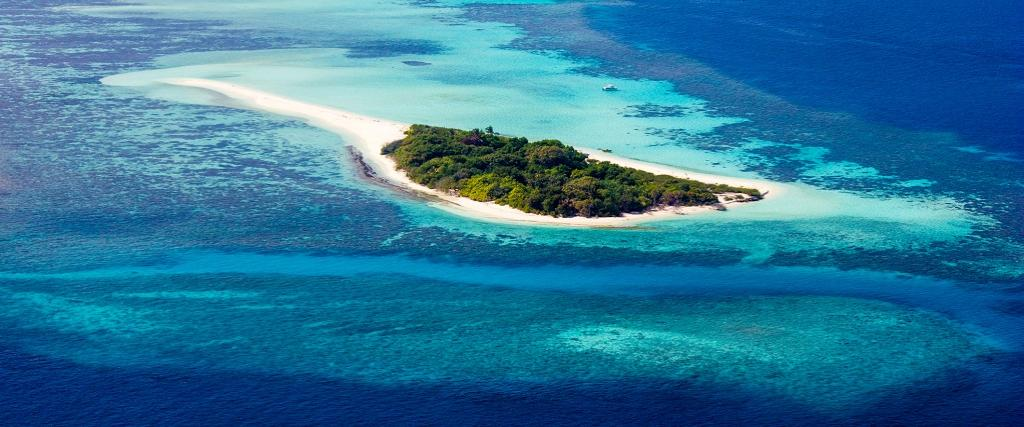 A view of Haa Dhaalu atoll in Hundafuri islands, Maldives. Photo: Getty Images