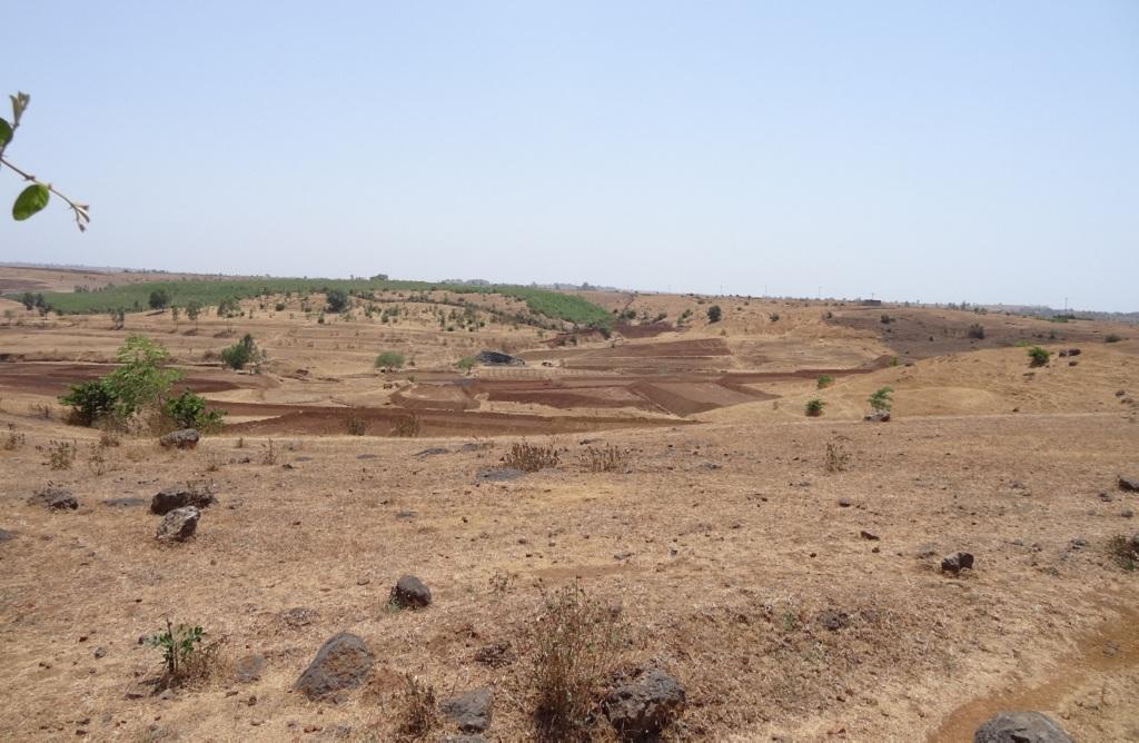 महाराष्ट्र के धुले जिले में रेगिस्तान जैसे हालात बन गए हैं। फोटो: डीटीई