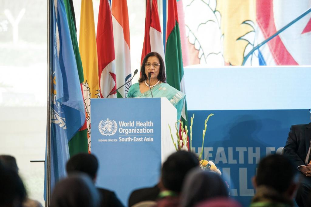 WHO South East Asia Regional Director Poonam Khetrapal Singh