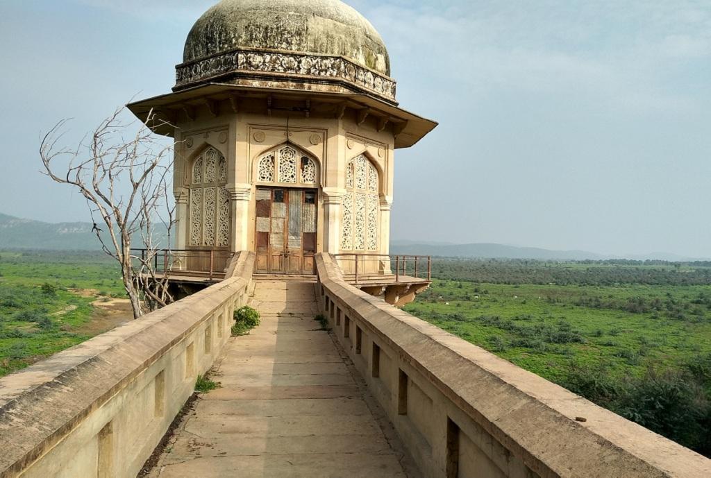 जयपुर  से सटे रामगढ़ बांध का गुबंद। फोटो: महेंद्र कुमार