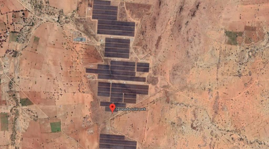 Pavagada solar park. Photo: Google Maps