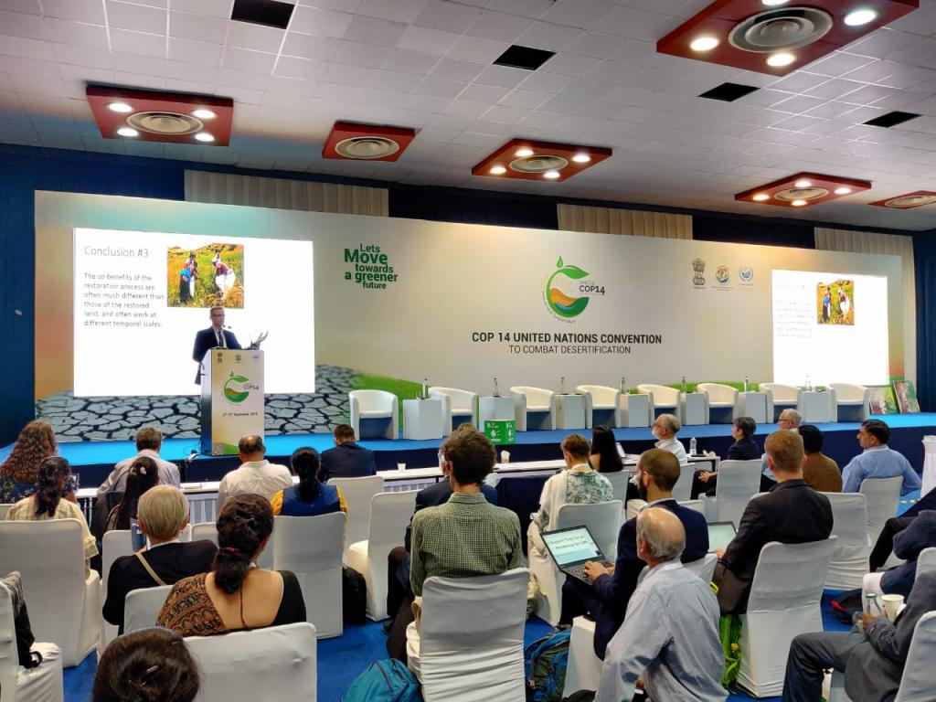 The 14th Conference of Parties (COP) of the United Nations Convention to Combat Desertification (UNCCD) is being held in Greater Noida. Photo: UNCCDCOP14INDIA/Twitter
