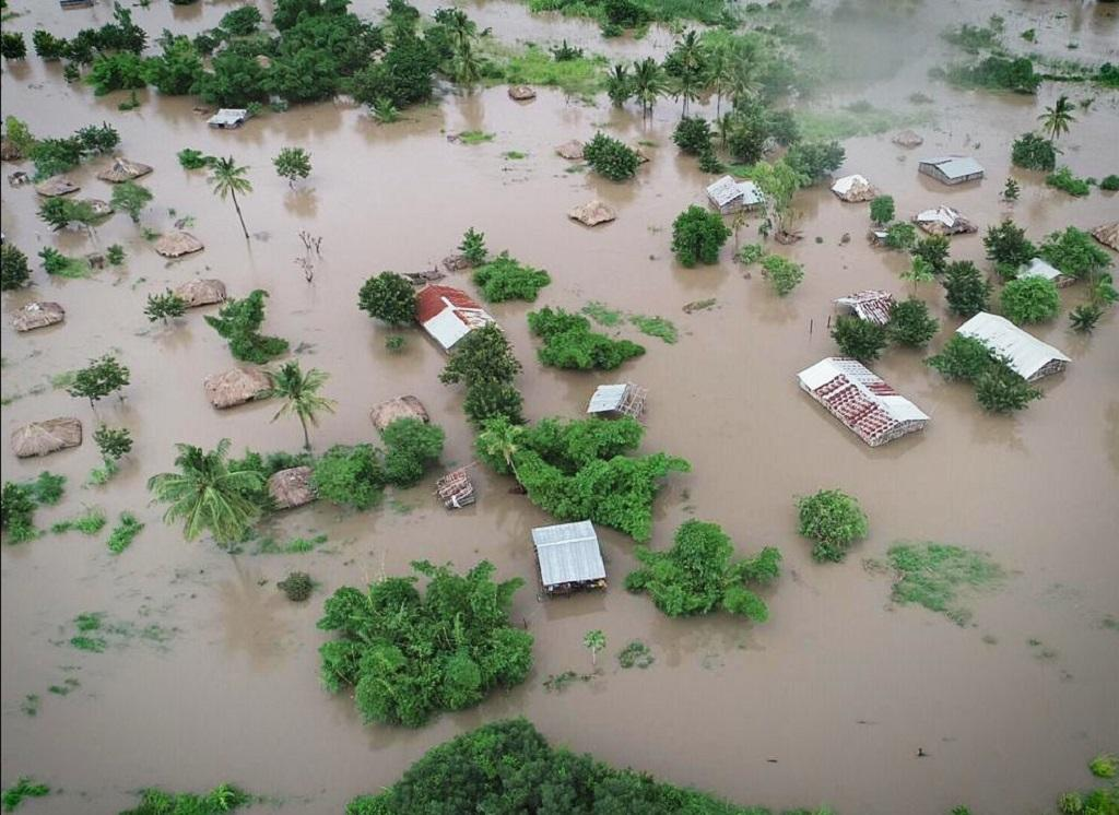 A view of the devastation caused by Cyclone Idai in Africa. 