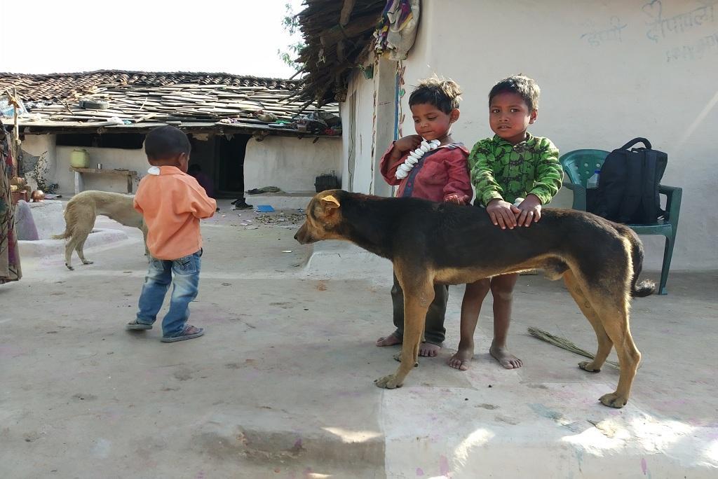 मध्य प्रदेश सरकार जहां वन्य जीव अभ्यारण्य बनाना चाहती हैं, वहां आदिवासियों के गांव हैं। ऐसा ही एक गांव। फोटो: मनीष चंद्र मिश्रा