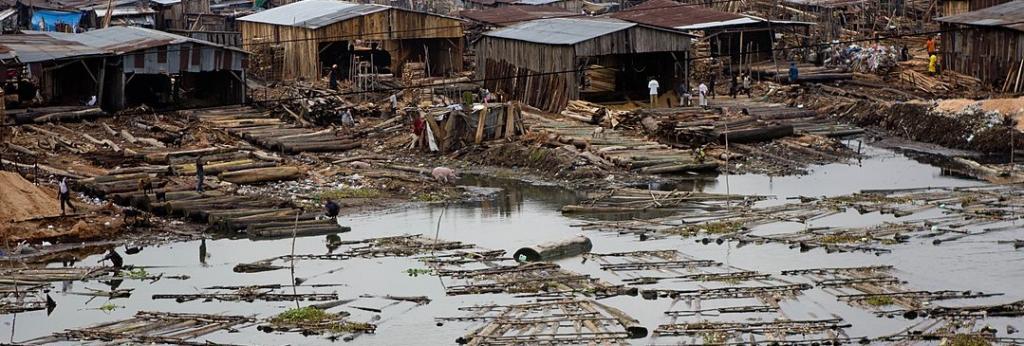 The infamous Makoko slum in Lagos, Nigeria. Photo: Stefan Magdalinski/Wikimedia Commons