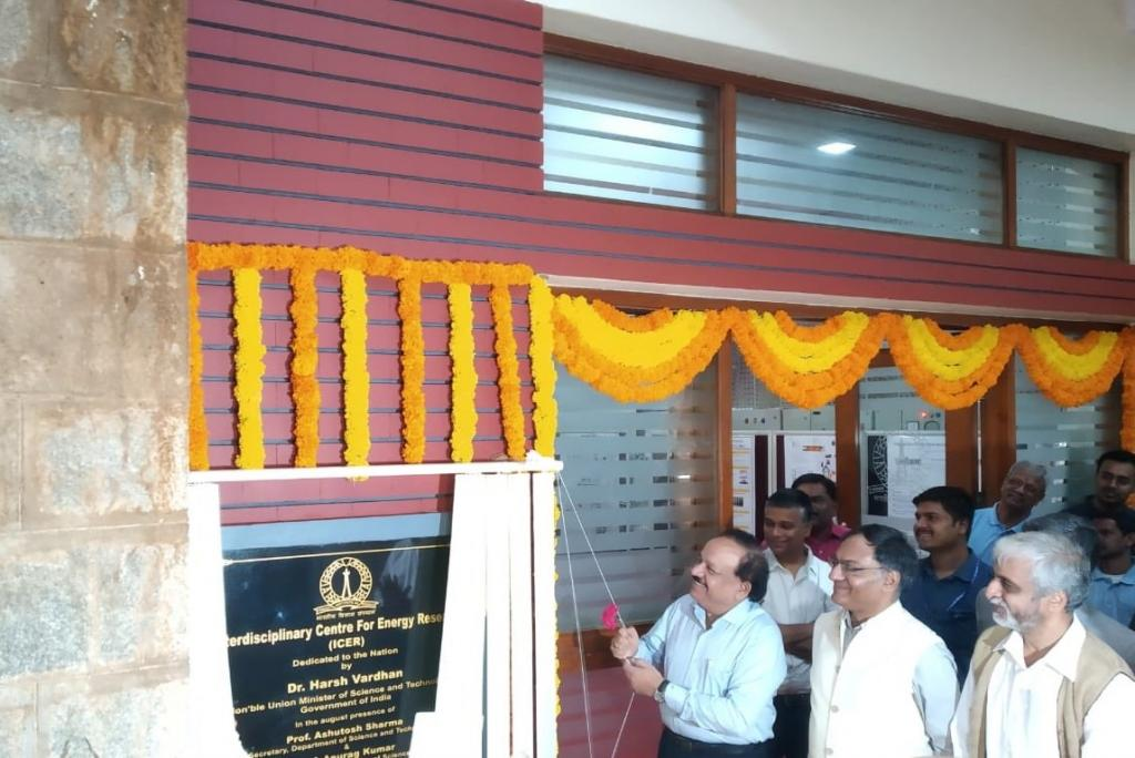 Minister of Science & Technology Harsh Vardhan inaugurated the National Centre for Clean Coal Research and Development at the Indian Institute of Science (IISc) in Bengaluru. Photo: Twitter