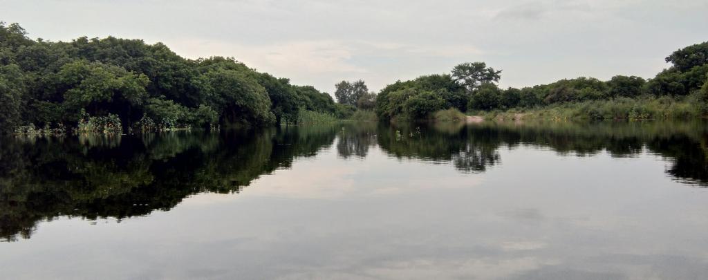 The Gomti river at Puraina ghat in Akhairajpur village, Pilibhit district in August 2018. Photo: Venkatesh Dutta