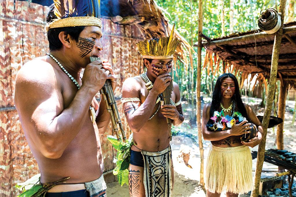 The Amazon is home to more than 400 indigenous communities which are traditionally living in perfect harmony with nature and protecting its biodiversity