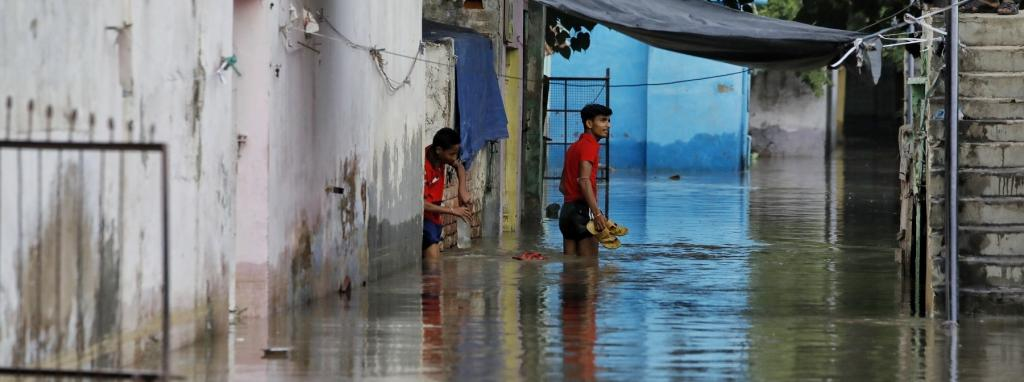 Yamuna crossed danger mark in August and water entered people's homes in New Delhi. Photo: Vikas Choudhary
