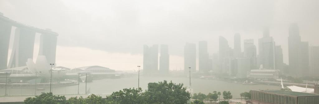 Central Singapore recorded an Air Quality Index of 159. Photo: Getty Images