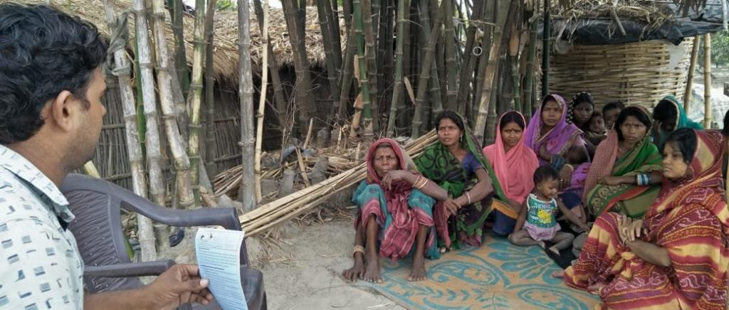 An awareness campaign has again been launched to educate villagers about the AES Syndome. Photo: @UNICEFIndia / Twitter