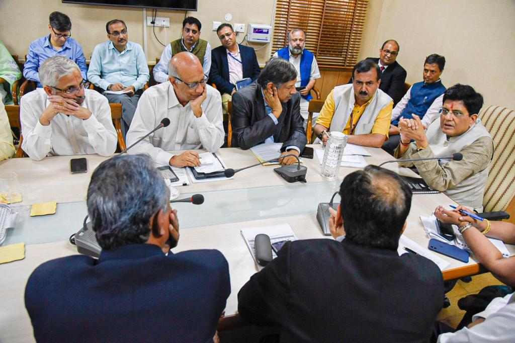 Piyush Goyal, minister of railways and commerce & industry, held a consultation with representatives of the pharmaceutical and chemical industry on the Regional Comprehensive Economic Partnership. Photo: Twitter