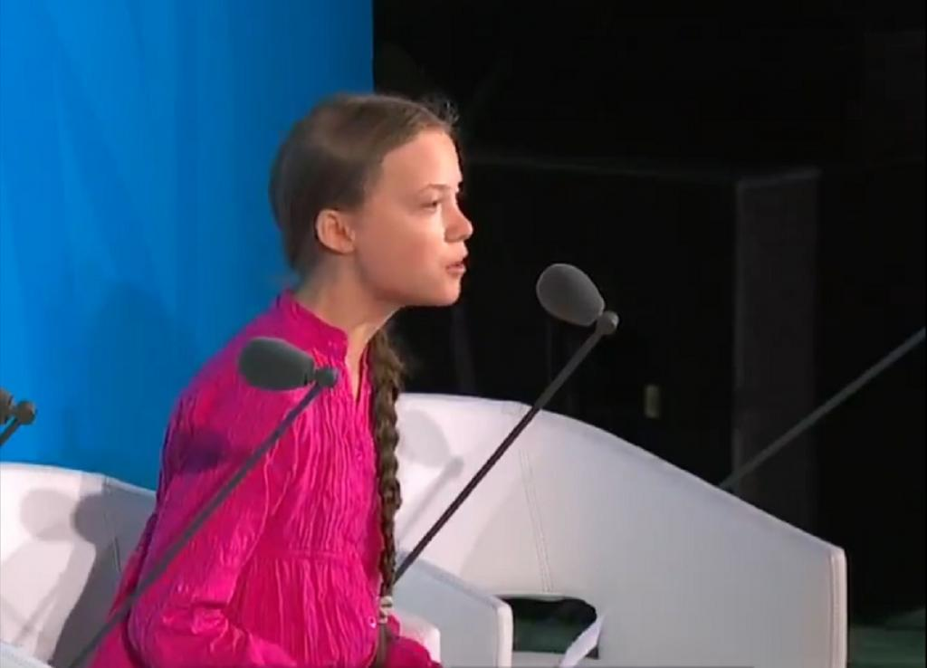 Greta Thunberg at UN. Photo: United Nations / Twitter
