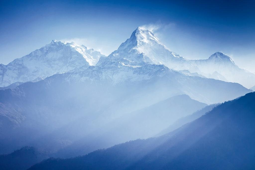 A view of the Annapurna mountains in the Himalayas. Photo: Getty Images