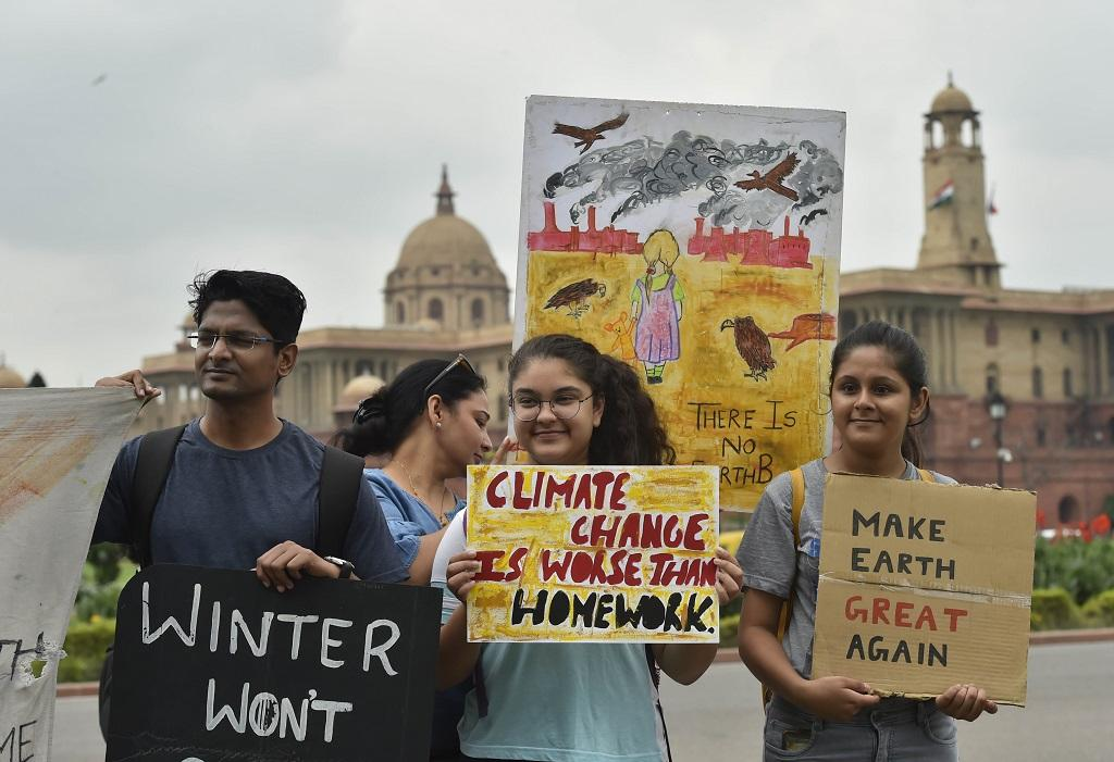 The protestors first marched along Rajpath during morning and marched from Jantar Mantar to the Central Park in the afternoon. They were joined by people from 20 cities across India, including Bengaluru, Mumbai, Nagpur, Jaipur, Kolkata, Thrissur. Photo: Vikas Choudhary