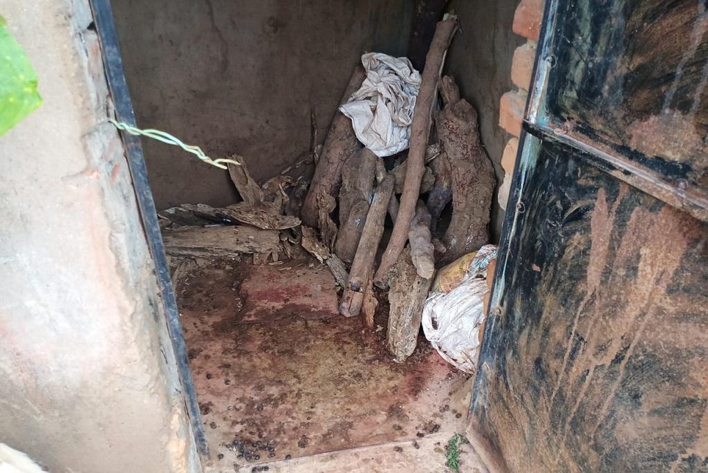 मध्य प्रदेश के शिवपुरी जिले के गांव भावखेड़ी में शौचालय तो बने हैं, लेकिन इस हाल में हैं। फोटो: मनीष मिश्रा