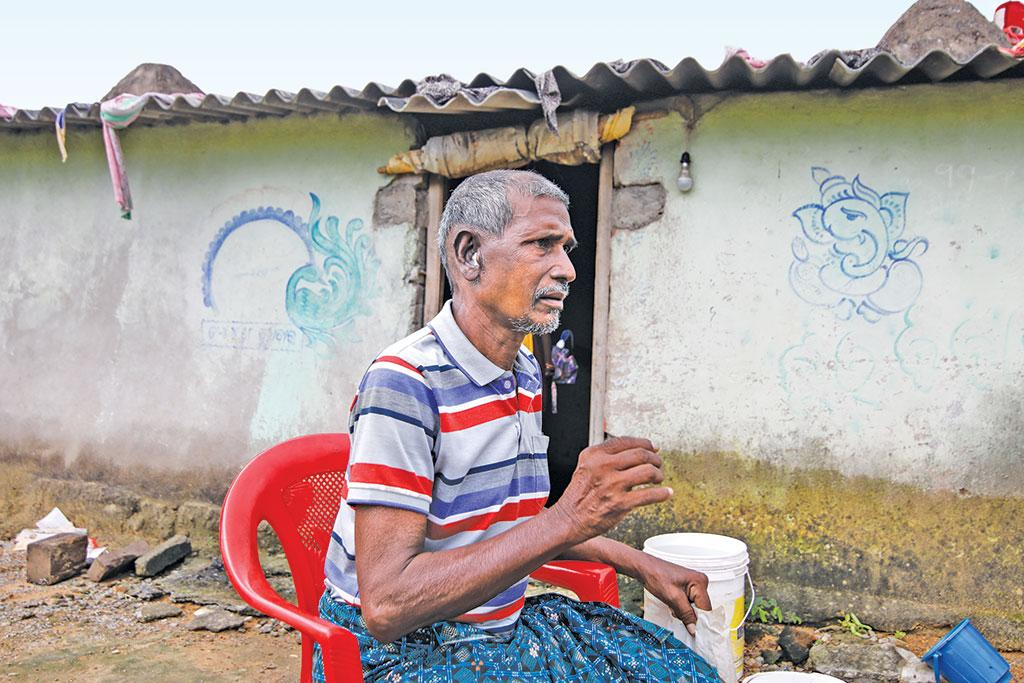 Mohan Kampa, 60, of Mehena village, has no money to get treated for his auditory canal cancer