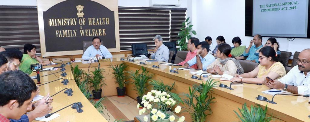 Union Health Minister Harsh Vardhan addresses the press meet on October 4, 2019. Photo: @drharshvardhan/Twitter