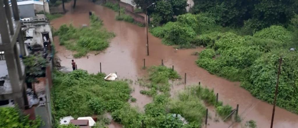Pune's Shelar Mala in Katraj area inundated after heavy rainfall. Photo: Sandeep Koshti