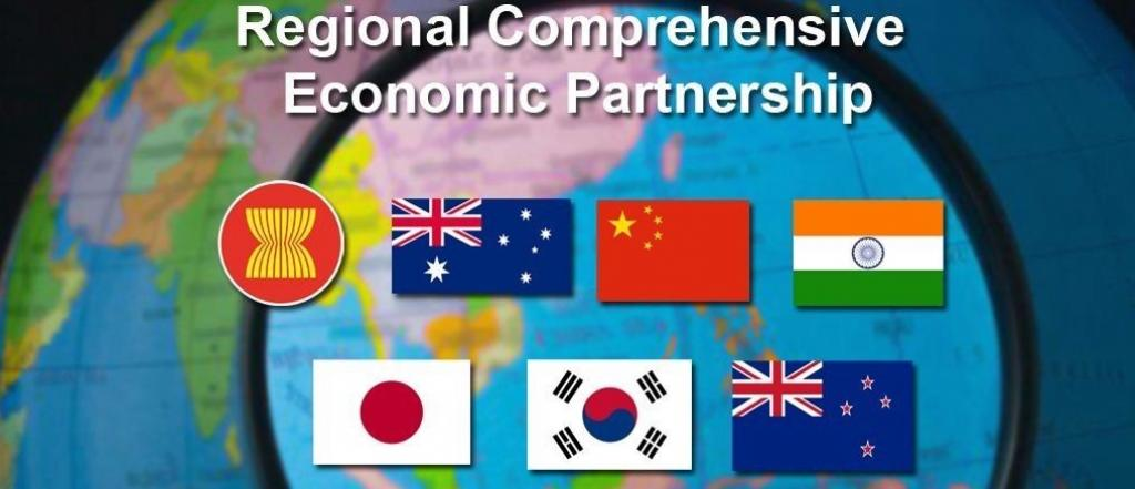 Flags of the countries that are to be part of the proposed RCEP. Photo: @invest_asean/Twitter