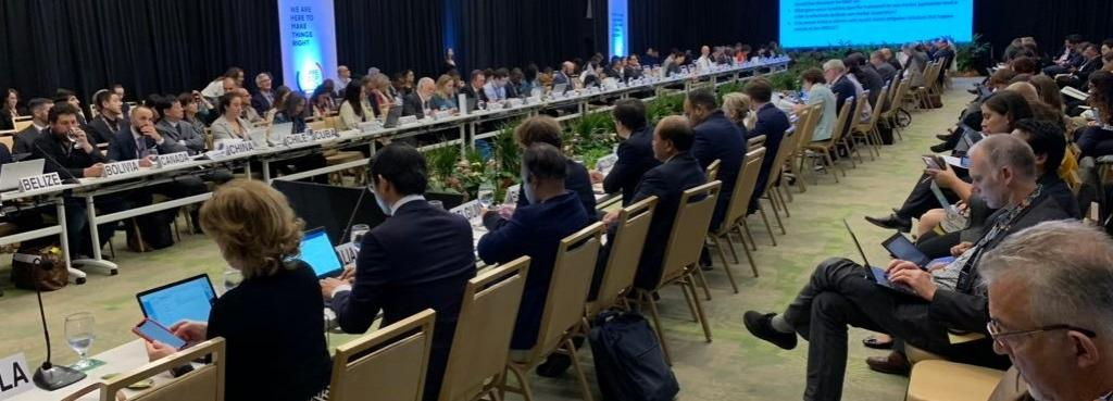 Informal consultations between representatives of 100 governments at Pre-COP in Costa Rica. Photo: Twitter