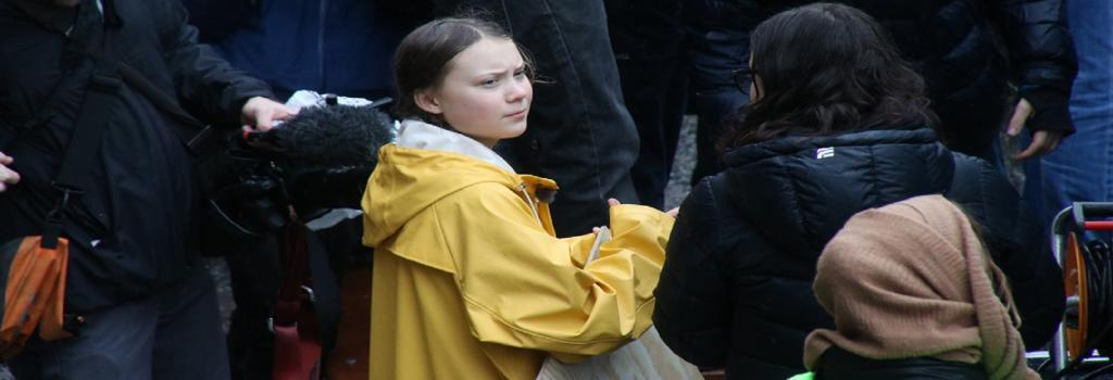 Greta Thunberg leading a protest in Stockholm, Sweden.Credit: Ulrica Loeb/Flickr