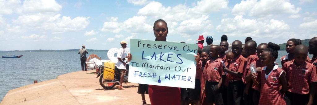 Hilda Flavia Nakabuye organising a protest in her native Uganda. Photo: Nakabuye Hilda F. @NakabuyeHildaF / Twitter