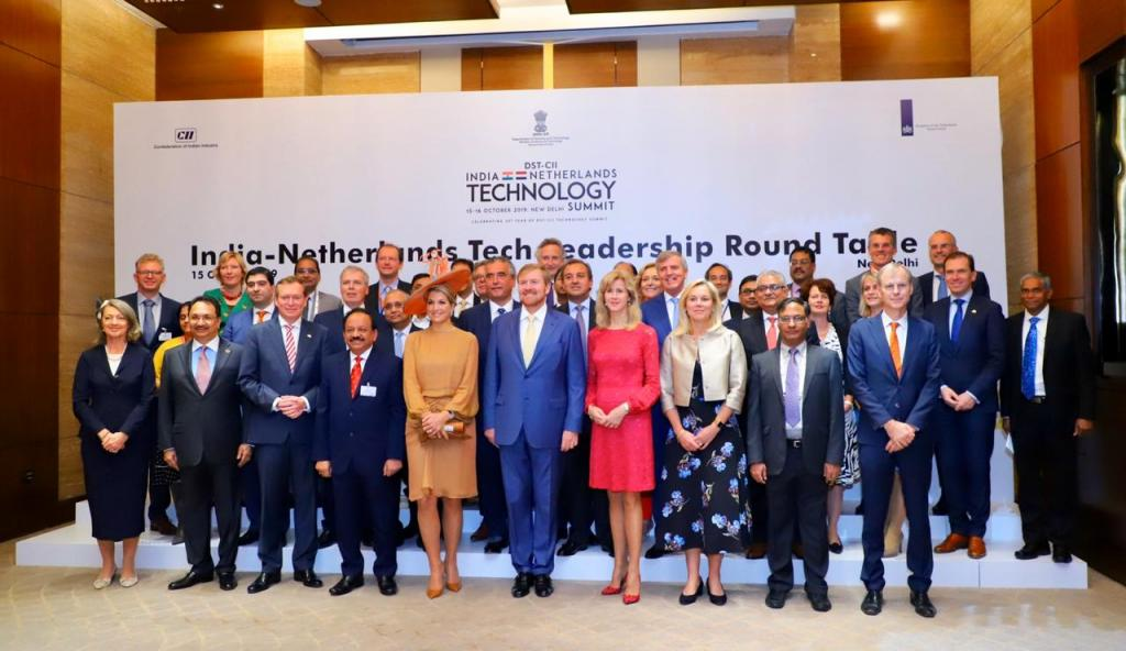 A two-day technology summit between India and the Netherlands began in New Delhi on October 15, 2019. Photo: Twitter