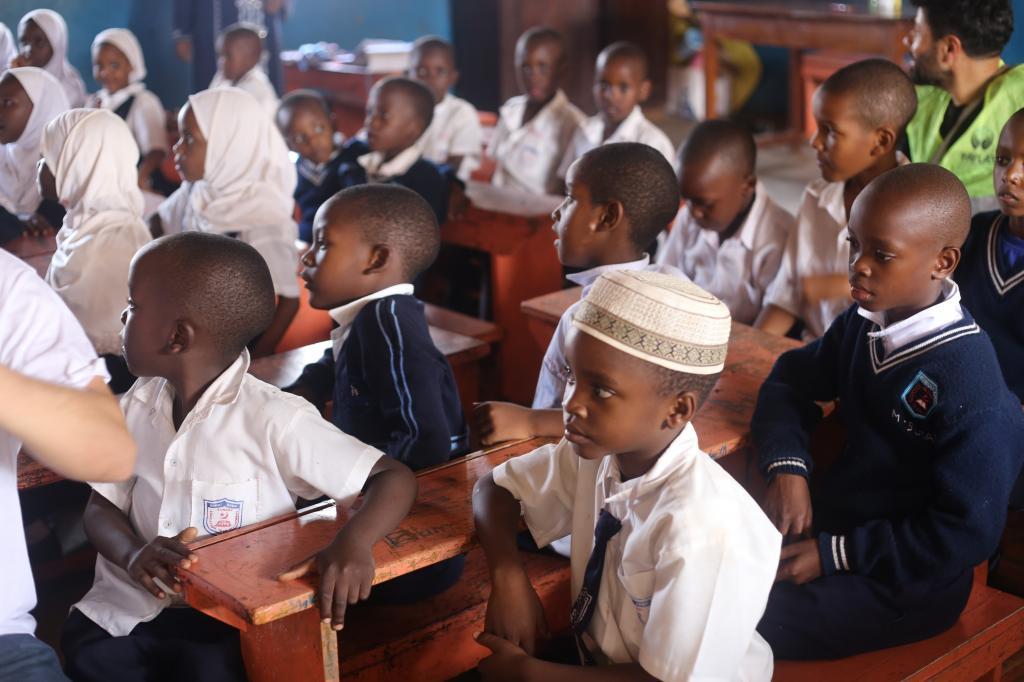 Uganda schoolchildren. Photo: Shutterstock / The Conversation
