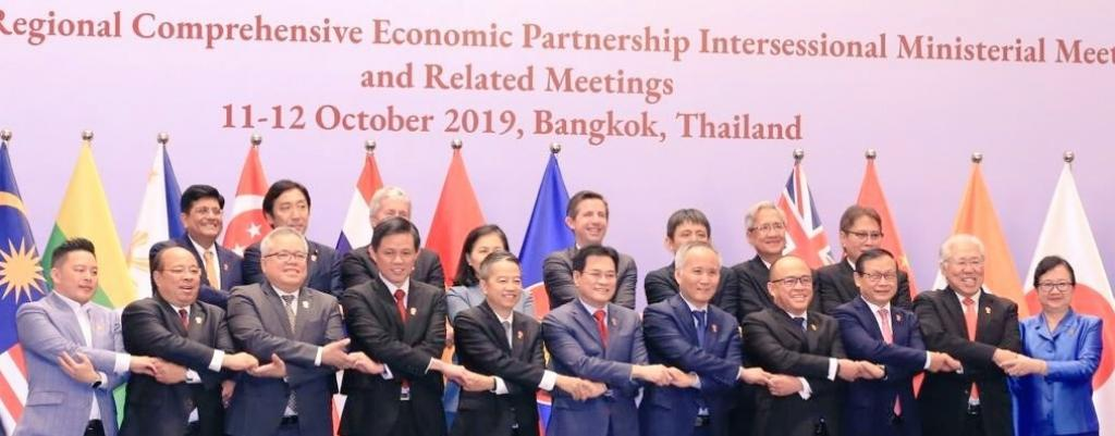 Leaders of countries that are part of the proposed RCEP met in Bangkok on October 11. Photo: @PiyushGoyal/Twitter