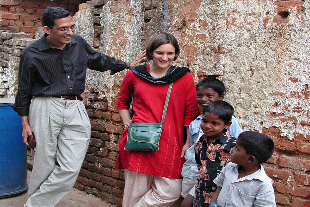 2008 में भारत दौरे पर आए थे अभिजीत बनर्जी। फोटो: जे पॉल