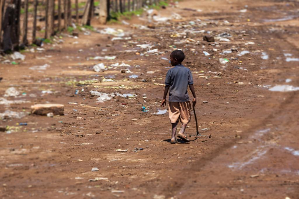 One in five children in sub-Saharan Africa live in poverty. Photo: The Conversation / Shutterstock